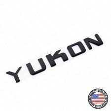 1x YUKON Tailgate Door Letter Nameplate Emblem SUV HD Badge GMC 3D Gloss Black