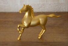 Statuette cheval plaqué or 24KGP