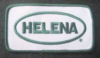 "HELENA EMBROIDERED SEW ON PATCH HAT JACKET ADVERTISING UNIFORM 4 1/2"" x 2 1/2"""