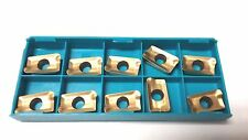 10 PC. - New Ingersoll APKT1604 16R-H Carbide Insert - Grade IN1530 - Tin Coated