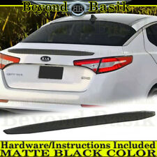 Fits 2011 2012 2013 Kia Optima BLACK MATTE Factory Style Spoiler Lip Wing ABS