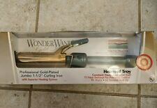 Wonder Wand Curling Iron Jumbo Helen of Troy 1 1/2 Gold Plated NOS in box Unused