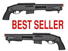 350FPS DOUBLE EAGLE M401 Pump Action Spring Powered Airsoft Shotgun Air Soft 6mm