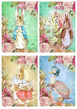Beatrix Potter ~ Card Making Toppers / Scrapbooking / Crafting/Peter rabbit