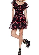 Betsey Johnson Floral-Print A-Line Dress Sz 10