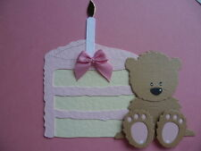 LARGE SLICE OF ICED BIRTHDAY CAKE DIE CUTS FOR CARD TOPPERS