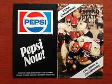 CFB 1983 FRESNO STATE BULLDOGS Football Schedule College FB