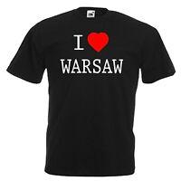 I LOVE HEART WARSAW POLAND T-SHIRT ALL SIZES