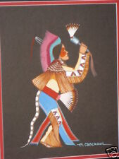 ARCHIE BLACKOWL ORIGINAL FAN DANCER / ONE OF PR/ FRAMED