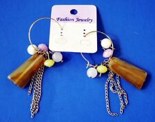 Charm Dangle Us Seller Free Usa Shipping Fashion Earrings Wire Ring With Beads &