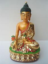 NEW Golden Buddha, RESIN,FIGURE,STATUE,LUCKY ORNAMENT,GIFTS,FENG SHUI