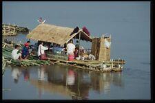 147074 Chiang Rai Raft On Maekok River A4 Photo Print