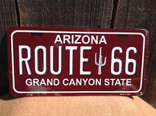 Route 66 Arizona Crimson Red Wholesale Novelty License Plate Bar Wall Decor