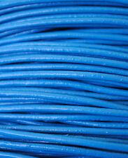 5 metros de cordón de cuero 2mm, color Azul, couro, leather, cuir, leder