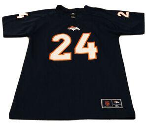 Denver Broncos Jersey T Shirt CHAMP BAILEY #24 Youth XL NFL Navy Blue HOF