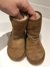 UGG Classic Baby Toddler Girl Boy Chestnut Suede Boot. Sz 7 Preowned