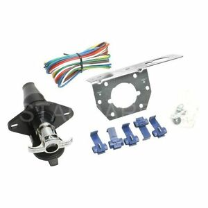 6-Pole Round Trailer Connector Kit Standard TC62K Valley 5208 Reese 74129 2508F