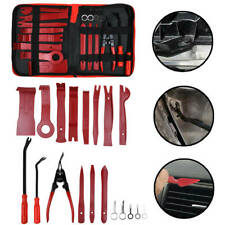 19x Car Trim Removal Tools Set Hand Tools Pry Bar Panel Door Interior Clip Kit