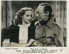 PETER LORRE EVELYN KEYES THE FACE BEHIND THE MASK 1941 VINTAGE PHOTO ORIGINAL #4