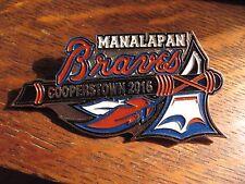 Cooperstown NY Baseball Pin - 2016 Manalapan Braves Championship Team Badge Pin