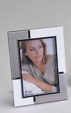 moderne CADRE PHOTO CADRE PHOTO EN ALUMINIUM BLANC/argent 10x15 cm