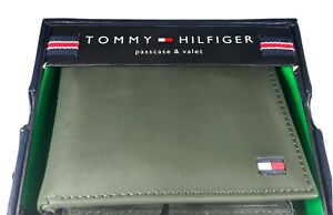 Tommy Hilfiger Passcase Valet Green leather