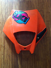 Used KTM EXC SXC headlight mask orange 2005-2007