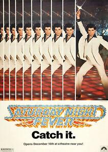 SATURDAY NIGHT FEVER 1977 John Travolta, Karen Gorney - Movie Cinema Poster Art