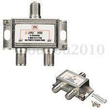 2 Way TV Satellite Cable Splitter Combiner for Sky Virgin Signal Media 5-2600mhz