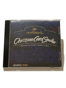 Hallmark Christian Card Studio PC CD Religious Greeting Card Software  - Rare