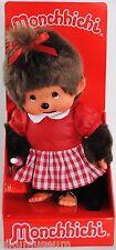 Monchhichi 242863 Red Checker Girl S-size (Mädchen im Karo Kleid), 20 cm