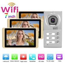 3 Familienhaus 7'' LCD WIFI Video Türsprechanlage Sprechanlage Türklingel Set