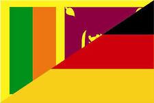 Aufkleber Sri Lanka-Deutschland Flagge Fahne 12 x 8 cm Autoaufkleber Sticker