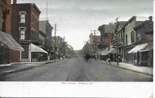Nice View down Main Street in Pittston PA Handsome Vintage Postcard unused
