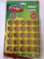 3x 8 25 rings per card Xmas Shot Caps - [Toy]  NEW BRAND