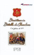 Chile 2017 Brochure 200 yrs Battle of Chacabuco - Bernardo O´Higgins - no stamp