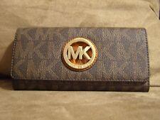 Michael Kors Fulton Flap Continental Wallet (Brown) - NWT