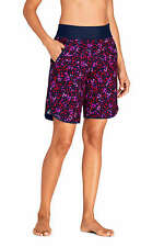 """Lands' End 9"""" Quick Dry Elastic Waist  Board Shorts Swim Cover-up Size 14 $64."""