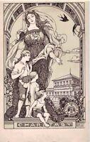 ANICHINI Opera Nazionaòe Pro Derelictis Firenze WWI PC Circa 1925 ART NOUVEAU