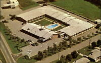 Governor's Inn  Motel & Restaurant ~ Shelby North Carolina ~ aerial ~ pool 1970s