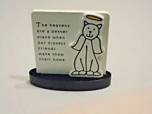 CARSON TIME TO SMILE REMEMBRANCE OF BELOVED CAT PET PLAQUE