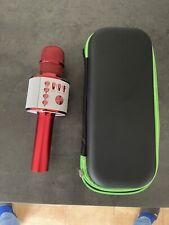 BONAOK Karaoke Mikrofon 3 in 1 Kabelloses Kindermikrofon Rot