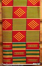 African Kente Print Fabric Cloth Bright & Bold Colors 100 Cotton per Yard