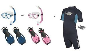Mares Sharky Flex Snorkel Set With Abc-Set And Shorty Size 27-36 Var. Colors