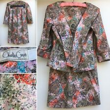"""Vintage Charles Cooper Design Skirt Suit W/ Belt (skirt 25"""" Waist) 1950s 50s"""