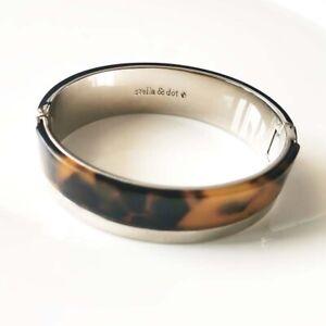 New Stella Dot Resin Oval Bangle Cuff Gift Fashion Women Party Holiday Jewelry
