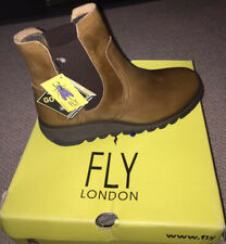 New Fly London SCON 058 Boots Rug Camel Sz 3 / 36 Ankle Leather Gore-tex