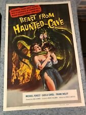 "Beast From Haunted Cave 1959 Original 1 Sheet Movie Poster 27""x41"" (VF+) Horror"