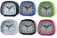 Ravel Bedside Table Quartz Alarm Clock Silent Sweep BEEL BEEP SNOOZE LIGHT