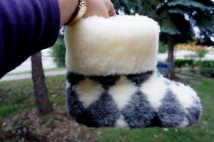 Premium Quality Sheepskin/Sheep Wool Slippers Women. Made in Poland. USA Seller!